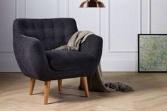 Mimi armchair from swooneditions in slate grey