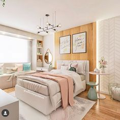The result of a project that we developed at a distance, for a client who lives . Room Design Bedroom, Teen Bedroom Designs, Bedroom Decor For Teen Girls, Home Room Design, Room Ideas Bedroom, Teen Room Decor, Small Room Bedroom, Bedroom Layouts, Bedroom Styles