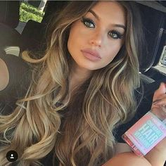 My hair goals! Ombre Hair, Pink Hair, New Hair 2018, Messy Ponytail, Balayage Highlights, Cute Hairstyles, Hairdos, Hair Inspo, Hair Goals