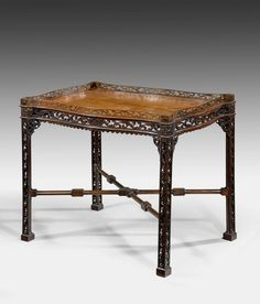 A Chippendale Period Mahogany Silver Table