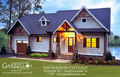 The Walkers Cottage House Plan 11137 by Garrell Associates, Inc. 1-877-215-1455. Design by Michael William Garrell.  http://garrellassociates.com/floorplans/walkers-cottage-house-plan