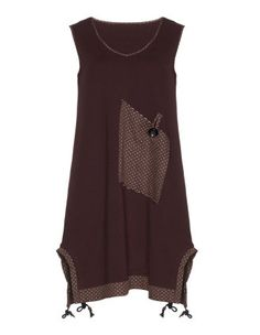 Longtop with a gathered hem in Bordeaux-Red / Versicolour designed by Isolde Roth to find in Category Tops at navabi.de