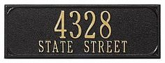 "Whitehall Personalized Chalet Mailbox Side Plaque Black (1947BG) by Whitehall Products. $39.99. Personalized Chalet Mailbox Side Plaque Black - 13"" x 20"" x 0.5"" - Personalization: Seven 3"" first line, Sixteen 1.25"" characters second line"