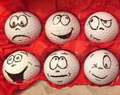 Golf Ball Christmas Ornaments Set of 4 by SleepyHollowCrochet