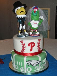Groom Cake Philly Eagles | eagles phillies cake created by wrightberry s custom cakes in oregon ...