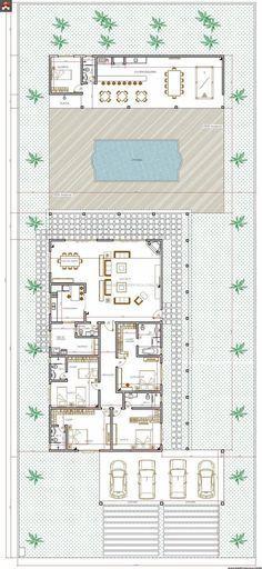 Plan De Maison Plain Pied Gratuit 4 Chambres #1 Architecture