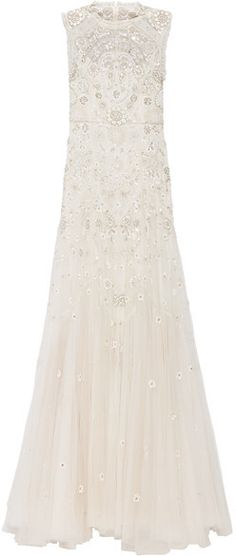 2c5670f52224e Needle & Thread - Bridal Lace-trimmed Embellished Tulle Gown - Ivory  Embellished Gown,