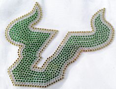 University of Southern Florida USF  Rhinestone Transfer  Show your college pride and spirit with heat transfers from Arden's Printing Plus. With cost-effective iron-on transfer selections, it's easy to display allegiance to your school. Whether hanging out with your sorority sisters or attending a lecture, a flattering rhinestone design is sure to get you noticed on campus. Quick, convenient, and affordable, our rhinestone heat transfers make a fun fashion statement!