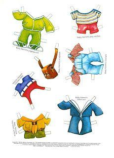 Paper Dolls: Muppet Babies. Kermit Outfits