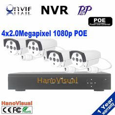 429.11$  Buy here - http://ali3pa.worldwells.pw/go.php?t=32617754380 - Best sale 4CH 1080P POE NVR kit poe nvr 4pcs 1080p ip camera 2.0megapixel 3.6mm len waterproof outdoor cctv surveillance system