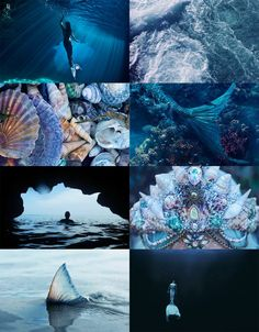 Bilderesultat for ocean aesthetic board Witch Aesthetic, Aesthetic Collage, Character Aesthetic, Blue Aesthetic, Real Mermaids, Mermaids And Mermen, Aesthetic Pastel Wallpaper, Aesthetic Wallpapers, Dibujos Zentangle Art