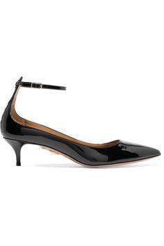 Aquazzura - Kisha Patent-leather Pumps - Black - IT38.5