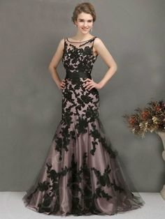 2014 Newest Black Lace Evening Formal Prom Party Cocktail Dresses Wedding Gown 1