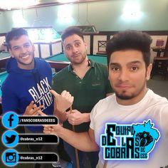 ¡Rafael Cardozo y su amigo aprendiendo a jugar billar con el profesor Bruno Rocha! #EquipoCobrasEEG