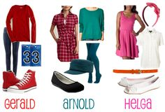 Gerald, Arnold, and Helga outfits:)