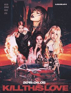 190330 'kill this love' comeback poster concept : blackpink Retro Graphic Design, Graphic Design Posters, Blackpink Jisoo, Blackpink Poster, Kpop Posters, Black Pink Kpop, Blackpink Memes, Blackpink Photos, Fan Art