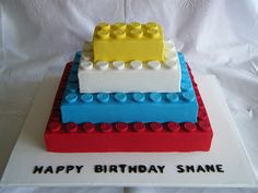 My kid is not too much into legos, but he ever becomes interested...this could be a fairly simple cake to create