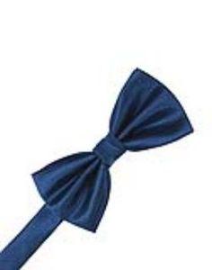 Sapphire Herringbone Formal Bow Tie