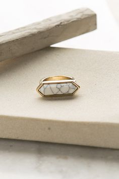 Chiseled in Stone Gold Ring | ShopDressUp.com