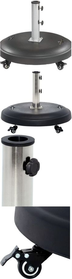Umbrella Stands 180999: Umbrella Holder Base Stand Move Wheels Heavy Duty Outdoor  Patio Garden Black