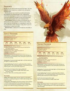 Young Phoenix(cr4) / Adult Phoenix(cr10)