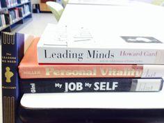 """Leaders"" - The leaders we need / Leading minds / Personal vitality / My job, my self #butlerbookspine"