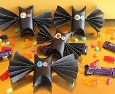 Morceguinhos de papel para o Halloween #halloween
