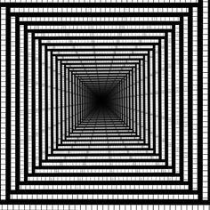 Optical illusion / fractal / geometric inspiration в 2019 г. Op Art, Graph Paper Drawings, Graph Paper Art, Illusion Kunst, Illusion Art, Pixel Art, 3d Art Drawing, Zentangle Patterns, Doodle Patterns