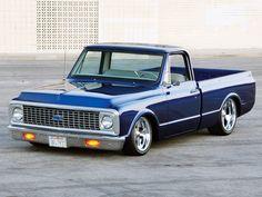 beautiful blue 1972 Chevrolet C10 Custom Pickup