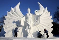 Harbin, la ville aux sculptures de neige - The 31st edition of the Harbin Ice and Snow Sculpture Festival in north-eastern China