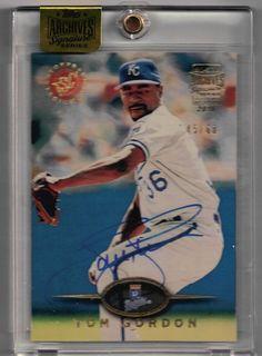 2016 Topps Archives Signatures Baseball Tom Flash Gordon Auto Serial #45/60 Card #ALBostonRedSox