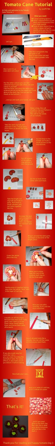Tomato Cane Tutorial by ~steffi786 on deviantART