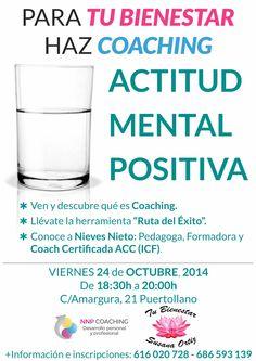 Taller Acitud mental positiva en el Centro Tu bienestar Susana Ortiz de Puertollano