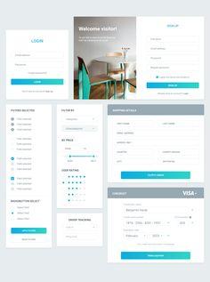 Bubu Dragos Visage UI Kit - Forms