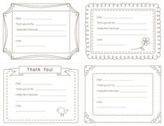 Wish I'd had these when I was teaching my sons about the importance of writing thank you notes.