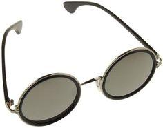 Occhiali da sole del brand Warehouse 365 da uomo con montatura leggera e ampie lenti circolari specchiate con protezione dai raggi UV 400. Diametro lente: 5,5 cm.