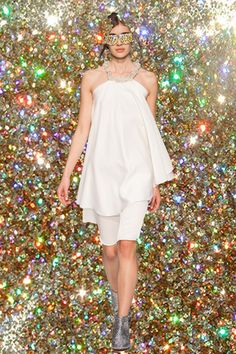 WHITE - After 10 years, the designer duo behind Je Suis Belle thought let it be clear and simple: all white. All White, Ss16, High Neck Dress, Formal Dresses, Photos, Fashion, Dress Ideas, Fashion Ideas, Gowns