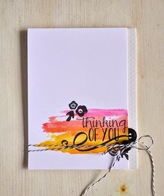 Mini Blooms Revisited: Thinking Of You Card by Maile Belles for Papertrey Ink (March 2015)