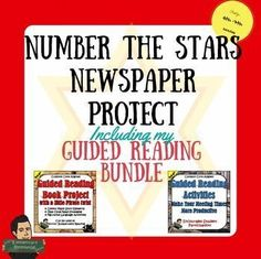 Number the Stars Project and Guided Reading Bundle by Eric's Elementary Resource Store  | Teachers Pay Teachers