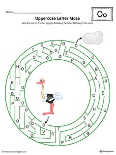 Uppercase Letter O Maze Worksheet (Color) Worksheet.If you are looking for creative ways to help your preschooler or kindergartener to practice identifying the letters of the alphabet, the Uppercase Letter Maze in Color is the perfect activity.