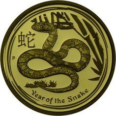 15 Dollar Gold Jahr der Schlange - 1/10 Unze PP