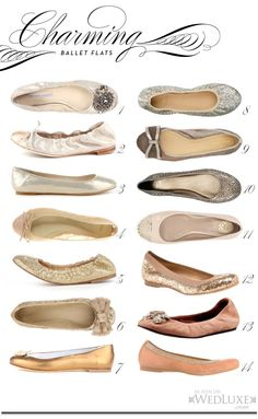 Add charm and comfort as your reception celebration carries on into the night. Here are 14 of the loveliest shimmery ballet flats that keep the sparkle going while easing tired feet. Ballerinas, Ballerina Flats, Ballet Flats, Oxfords, Sparkly Flats, Metallic Flats, Wedding Flats, Cute Flats, Me Too Shoes