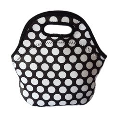 white dot thermal lunch bag bolsa termica neoprene office lunch box for kids picnic food lunchbox thermal insulated cooler bags