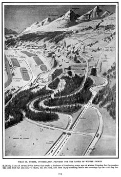 Map of St. Moritz, Switzerland. #RogersWinterWhites