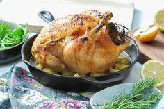 Honey Glazed Apple Roast Chicken.