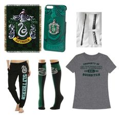 """""""Slyhterin Pride"""" by celestia21 ❤ liked on Polyvore featuring art"""