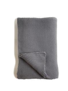 Charcoal Grey Moss Stitch Throw £69.95 & p+p