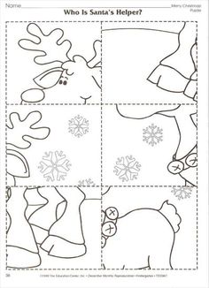 Winter-Arbeitskarte - New Ideas Preschool Christmas Crafts, Christmas Activities, Holiday Crafts, Christmas Colors, Christmas Themes, Kids Christmas, Handmade Christmas, Christmas Worksheets, Christmas Printables