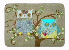 The Friendly Ladies Owl Machine Washable Memory Foam Mat PJC1094RUG