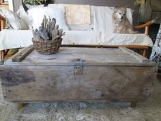 Distressed Coffee Table Rustic Industrial made and sold by funkomavintage. sold